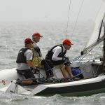 Court Roberts and crew aboard Court's Viper 640 at Long Beach Race Week