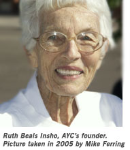Ruth Beals Insho, AYC Founder (picture 2005 by Mike Ferring)