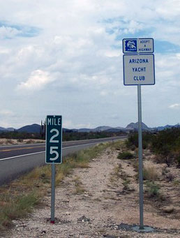 Watch for the sign on Carefree Highway at Lake Pleasant Parkway. Photo: Peter Lehrach