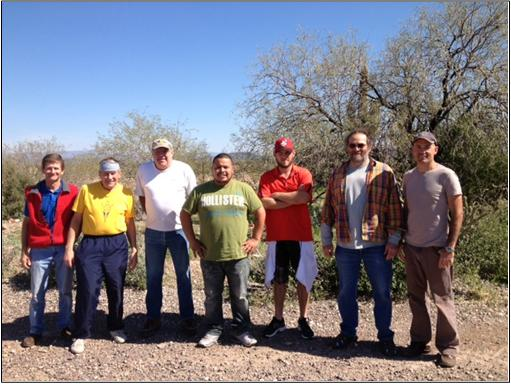 The crew (left to right): Martin Lorch, Thom Dickerson, Jeff Sloan, Juan Gagna, Jake Wease, Paul Eyssautier, and Kyle Clark. Volunteers not pictured: Pierce Cunningham, Michael Parker, and Peter Lehrach (who took the picture)