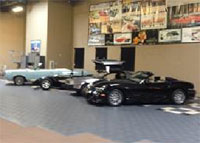 Some of the classic cars that will share our space.