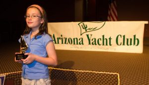 Isabel Love receives the Wayne Jason Tucker Outstanding Junior award.