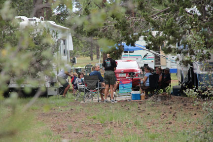 The campsites are set in the pines of cool Arizona. Photo: Mike Ferring