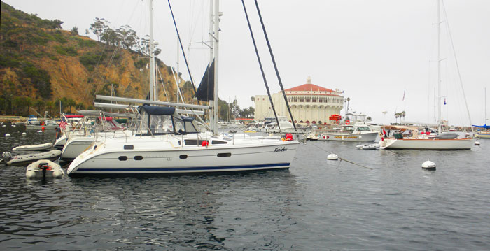 Avalon harbor on Catalina Island, a great charter destination. Photo: Ralph Vatalaro