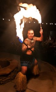 Fire knife dancers are part of the program this year.
