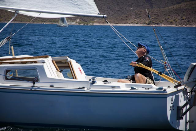 Emory Heisler fixes on the chicken downwind.