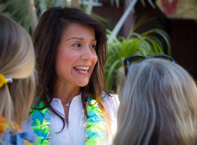 Christina organized the event at the Mesa HQ of Polynesian Luau.