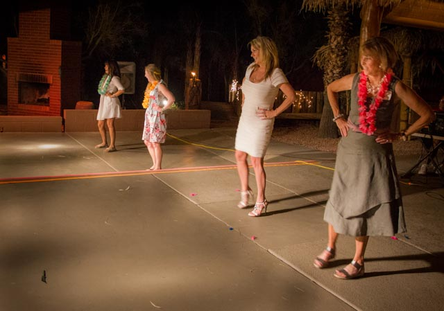 And the women showing how the hula dancing is actually done.