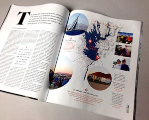 Two more pages from the Sailing World coverage, including a Lake Pleasant map and shots of your AYC pals.