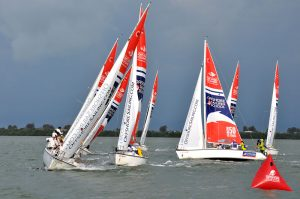Laying the mark at Performance Race Week. Photos courtesy Offshore Sailing School.