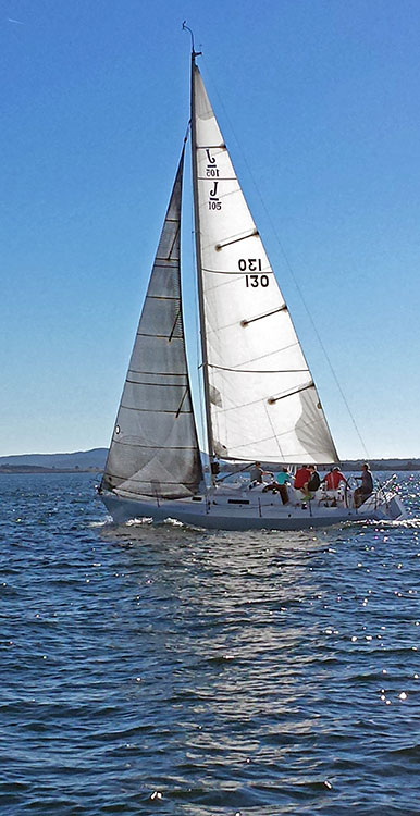 Nat Kemberling's lovely J/105. Photo: Victor Felice