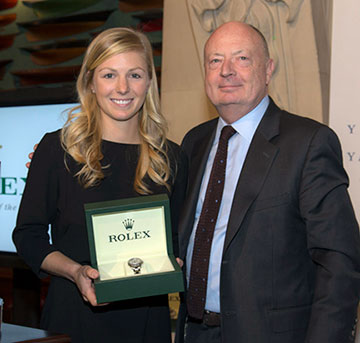 Stephanie Roble and Stewart Wicht, President & CEO of Rolex Watch