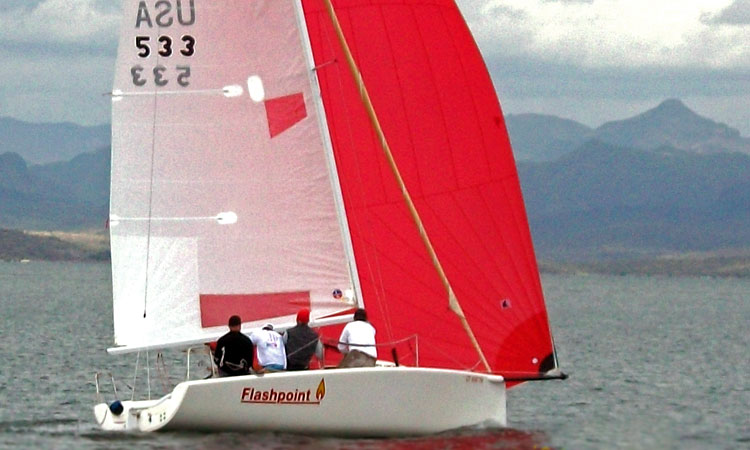 The winning Melges 24 of Court Roberts. Photo: Tom Errickson