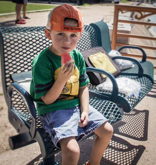 A young Mr. Riddell thinks there's nothing quite like some watermelon with your sailboat race.