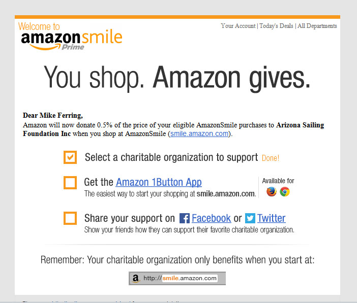If you buy from Amazon, begin buying from smile.amazon.com instead. Route .5% of your money to ASF.