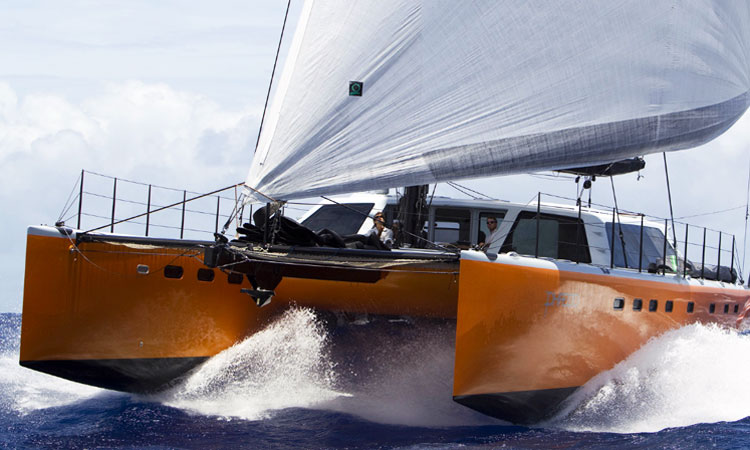 The Morrelli & Melvin designed Gunboat Phaedro, which they re-outfitted and modified for more sail area to run in this year's Transpac. Their boats ran 1-3 in this year's race.