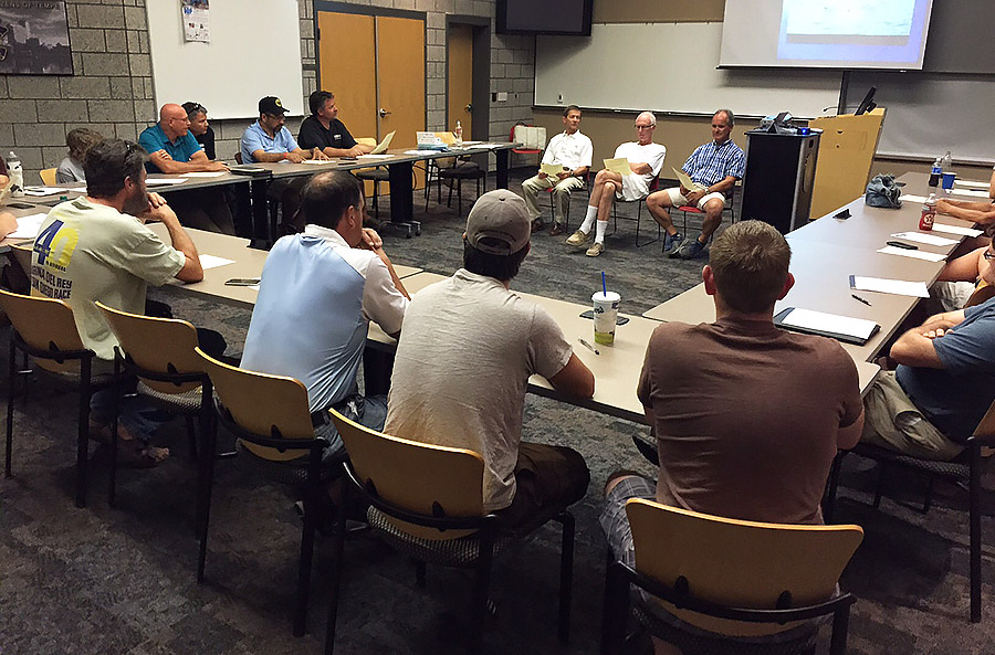 Some 35 sailors gathered to hear advanced sailing tips and exchange ideas.