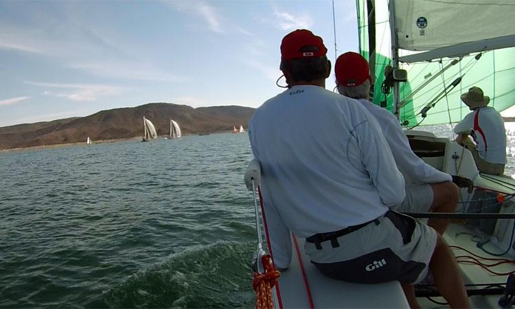 Aboard Melissa Kay downwind in the Sportboat fleet.