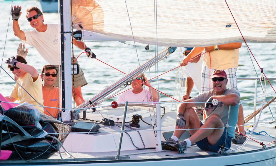 A featured picture from Sail magazine. They stress that the most important thing in racing is to have fun. Photo: Cate Brown