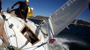 Victor Felice's J/24 on a screaming day. Photo: Victor's camera