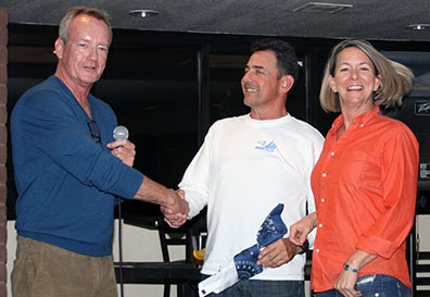 Chris Smith welcomes new members Mike Maloney and Kim Stuart.