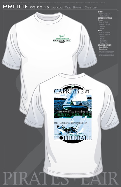 The regatta T-shirt by Pirate's Den.