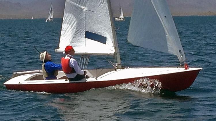 Emory Heisler and Tony Chapman aboard the winning Bucc. Photo: Tom Errickson