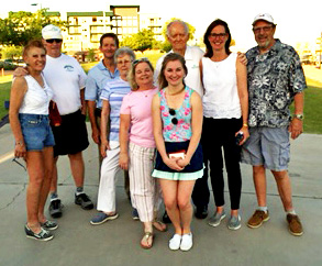 From left: Charlie and Debi Fife, Martin Lorch, Carol Ohlin, Mary Kay Farrington Lorch, Alexia Lorch, Tom Ohlin, Joyce Seale, and Dennis Lynde