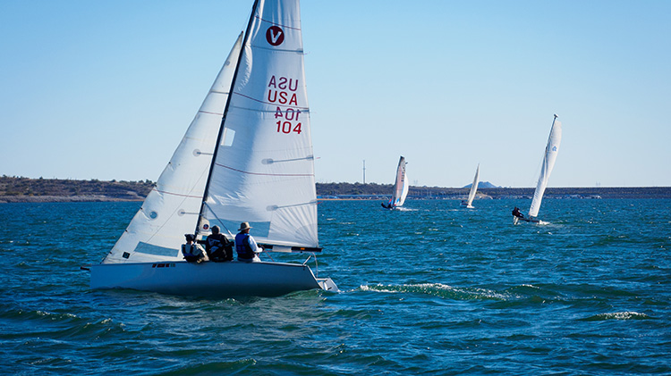 """Mike Hester won the monohull division of the """"Triple Crown"""" Governor's Cup in a Viper 640. This is Dave Evans's Viper. Photo: Mike Ferring"""